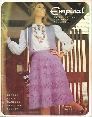 Vintage machine knitting book Empisal international knitwear collection family