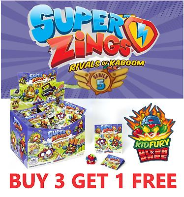 Superzings New Series 5 Kid Fury Gold Silver *Pick Your Own* Buy 3 Get 1 Free