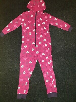 GIRLS ONE DIRECTION ALL IN ONE Onesie- Non Gerber SLEEPSUIT PYJAMAS AGE 9-10 YRS