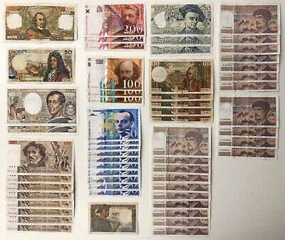 58 x Mixed Banknote Collection - FRANCE. (3325)