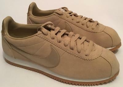 BRAND NEW AUTHENTIC Nike cortez SE trainers,taupe,gold BNWB