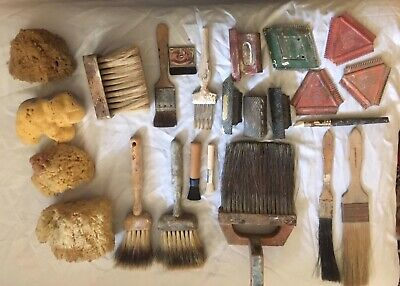 Specialist professional faux decorating brush set