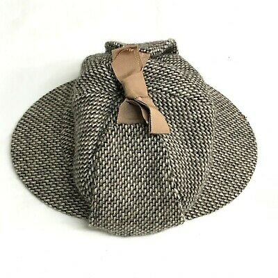 Failsworth Vintage Woven Wool Deerstalker 7 1/8 Holmes Headwear