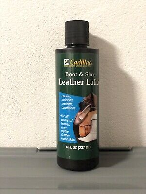 Cadillac Boot and Shoe Leather Conditioner and Cleaner Lotion 8 oz 237ml NEW