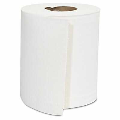 Center-Pull Roll Towels, 2-Ply, White, 8 x 10, 600/Roll, 6 Rolls/Carton CPULL