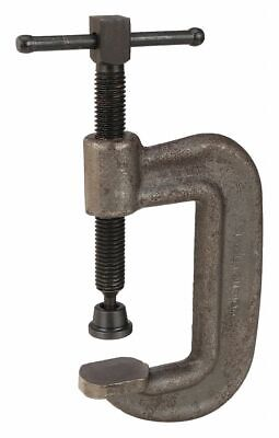 """Wilton Extra Heavy Duty Forged Steel C-Clamp, 3"""" Max. Opening, 2"""" Throat Depth,"""