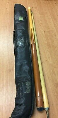 "Vintage Riley Snooker Cue with Case 56"" Long Brown Handle (D3)"