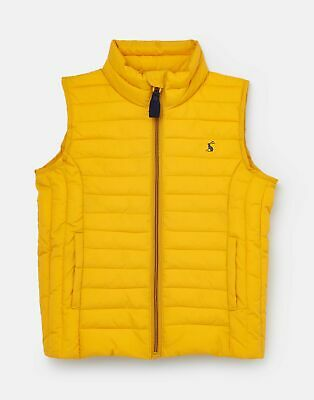 Joules Girls Croft Padded Gilet 1 12 Years in ANTIQUE GOLD