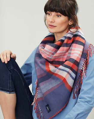 Joules Womens Wilstow Triangle Scarf - BLUE CHECK in One Size
