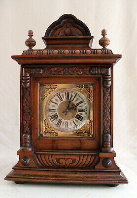 Antique Junghans German Table Clock Castle Style 1880