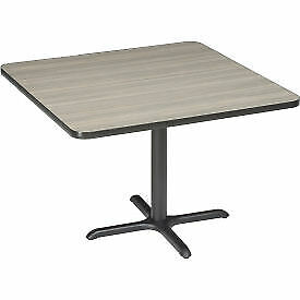 """Interion Restaurant & Lunchroom Table - Square - 42"""" x 42"""" - Charcoal CTXB42QPT"""