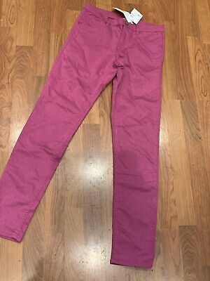 New With Tags Girls Pink H&M Skinny Stretch Jeans Age 13-14Yrs