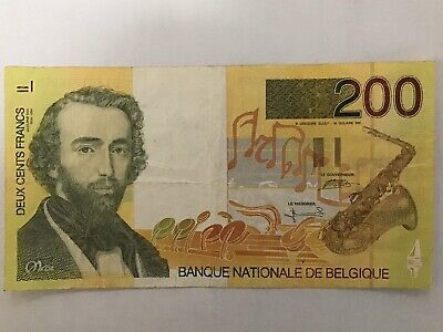 Belgium 200 Francs issued 1995