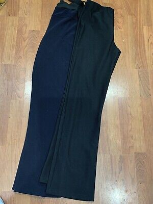 Two Pairs Of Ladies Blue & Black Trousers Bundle Uk Size 16 Great Condition
