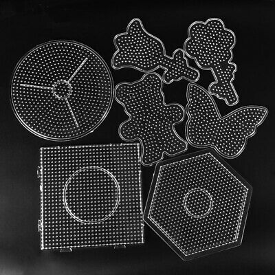 DIY Square Round Star Heart Perler Hama Beads Peg Board Pegboard for 5mm Fuse