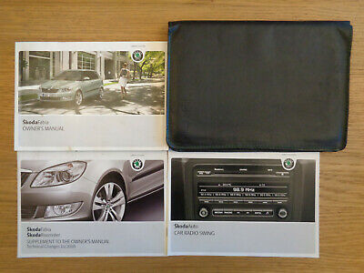 Skoda Fabia Owners Handbook Manual and Pack 10-14