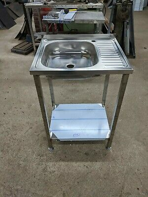 Commercial Stainless Steel Sink Unit 500 w x 600d