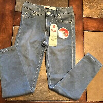 Levi's 710 little girls soft stretchy super skinny jeans leggings sizes 5R, 6R