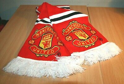 Manchester United Football Scarf Retro Vintage Official Merchandise