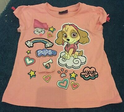 Pink Paw Patrol Girls T-Shirt 2-3 Years