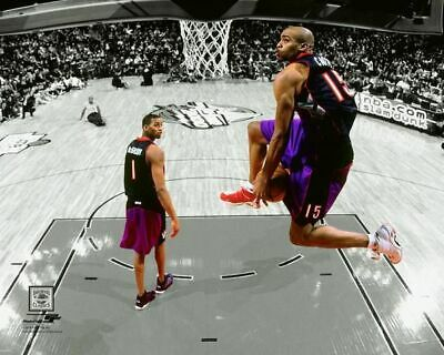 Toronto Raptors Vince Carter NBA Basketball Unsigned Photo Picture 8x10 Dunk Duo
