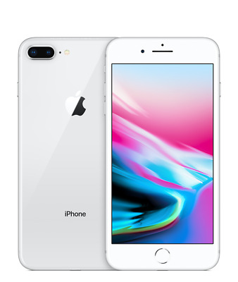 New Overstock Apple iPhone 8 Plus + 256gb Silver GSM Unlocked ATT & T-Mobile
