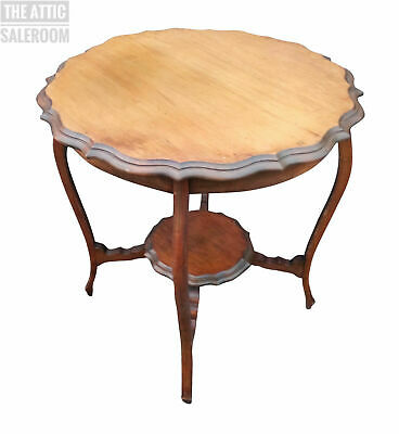 Charming Antique Victorian Mahogany Side End Hall Lamp Console Coffee Table