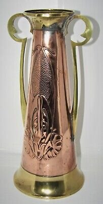Delightful Art Nouveau Copper & Brass Vase By Beldray c1890-1910. Arts & Crafts
