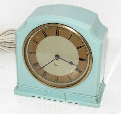 Superb 1930s/40s Smiths Green Bakelite Electric Mantle Clock