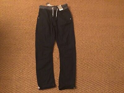 Next Boys Rib Waist Pull On Navy Trousers Age 11 Years Brand New