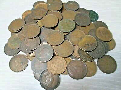 Lot of 83 1800's and 1900's Canada Large Cent Canadian Coins
