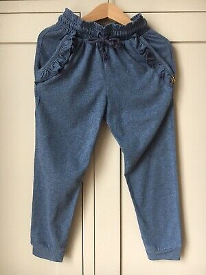 'Outside The Lines' Blue Frill Tracksuit Trousers with Gold Star Charm, 5yrs
