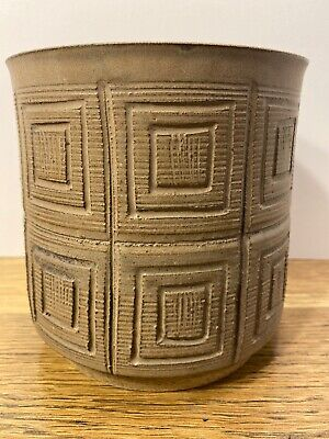 Brian Van Nostrand Collectible Pottery MId Century Modern Planter Mocha/Tan
