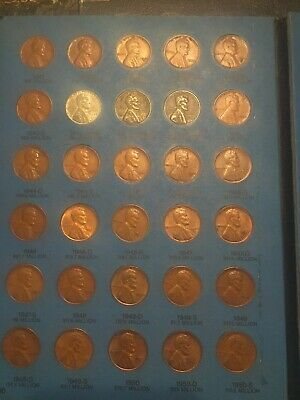 1941-1974 Lincoln Wheat & Memorial Cent Collection Complete Set Whitman Folder