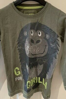 Boys Blue Zoo T-Shirt Age 3-4 Years Long Sleeve