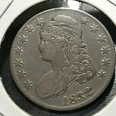 1832 Silver Bust Half Dollar Large Letters