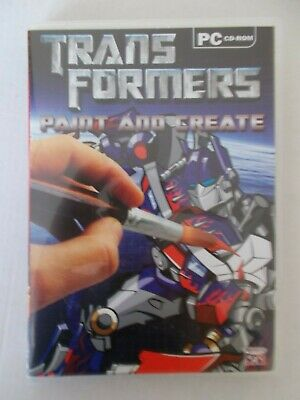 - Transformers - Paint And Create [Pc Cd-Rom] Brand New
