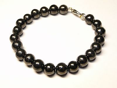 Shungite Bracelet 8mm beads from KARELIA, Russia, Ancient Healing Crystals