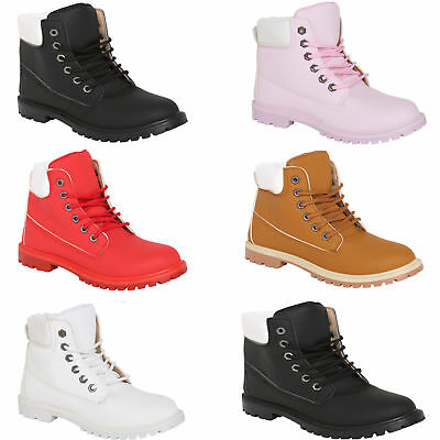 Kids Boys Girls Childrens Army Combat Lace Up Flat Ankle Riding Hiking Boots New