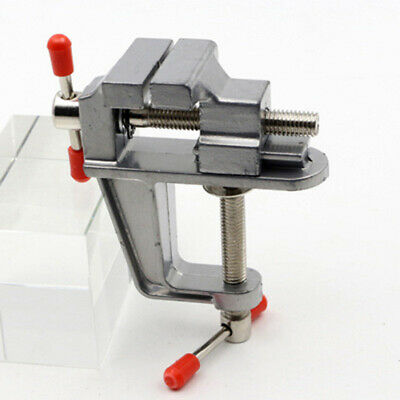 2Pcs 3.5 inch Aluminum Miniature Small Jewelers Hobby Clamp On Table Bench  F7Q4