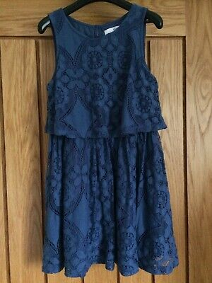 M&S Marks And Spencer Blue Girls Dress Age 6-7 Years