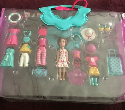 Vintage Polly Pocket Doll Lot Set Clothing Outfits w/ Shoes and Accessories