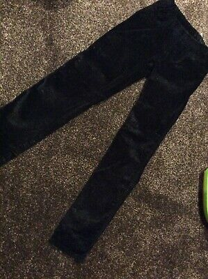 Girls Black Sparkly Trousers VGC 10-11 Years