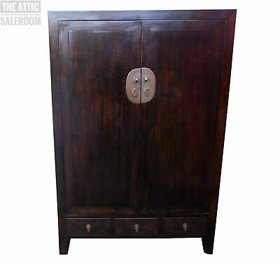 Stunning Vintage Chinese TV Media Wedding Storage Cupboard Cabinet, Chinoiserie