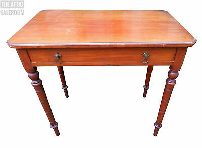 Charming Old Antique Victorian Mahogany Hall Table w/ Drawer