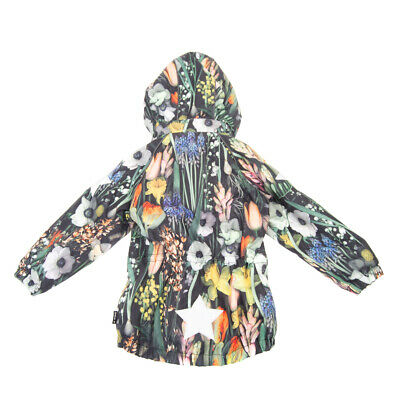 RRP€245 MOLO Jacket Size 4Y / 104 CM Waterproof Floral Print Reflective Patches