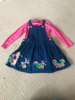 Girls Chicken Theme  pinafore dress and top set age 3-4 years TU clothing