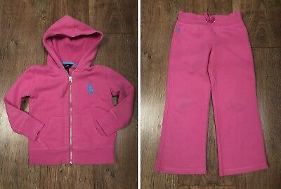 Girls 4 Yrs Ralph Lauren Pink Tracksuit Set Winter/Towie/Party/School/Pony/Love