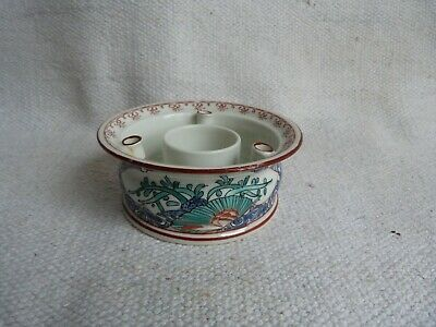 Very Fine Antique Chinese Porcelain Famille Verte Hand Painted Brush Pot.