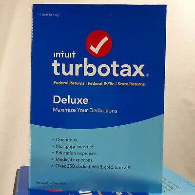 2018 TurboTax Deluxe Federal State Returns E File For Federal Maximize Deduction